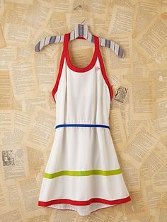 Vintage Mini Tennis Dress Tennis Clothing, Vintage Minis, Minis Tennis, Vintage Tennis, Vintage Wardrobe, Tennis Dresses, Minis Hot Dogs, Free People, Plays Tennis