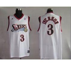 NBA Jerseys Philadelphia 76ers 3# Iverson white - Philadelphia 76ers - NBA Jerseys