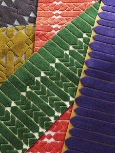 "Tapis "" Jardin Intérieur "" by india Madhavi Textiles, Textile Prints, Home Living, My Living Room, Interior Rugs, Interior Design, Tapis Design, Nylon Carpet, Classic Rugs"