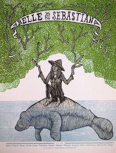 Belle and Sebastian Letterpress Poster by justajar on Etsy, $25.00