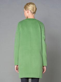 Пальто женское цвет салатовый, пальтовая ткань, артикул 1015910p00044