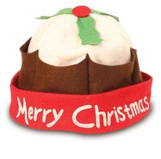 43b838ac201 Christmas Pudding Xmas Hat Festive Party Fancy Dress Pud Novelty.