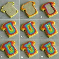 Tie-dye sugar cookies