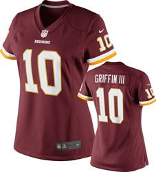 NEW ARRIVAL: Robert Griffin III Women's Jersey: Home Burgundy Limited #10 Nike Washington Redskins Women's Jersey