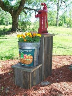 decorative outdoor well pump covers alike the bucket setting on pump covers ideas wishing well cover plans decorative outdoor well pump covers Outdoor Projects, Outdoor Decor, Outdoor Living, Garden Projects, Outdoor Ideas, Well Pump Cover, Septic Tank Covers, Old Water Pumps, Pump House