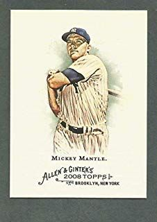 Mickey Mantle 2008 Topps Allen Ginter Baseball Card 7 New York Yankees Stored In A Protective Plastic Mickey Mantle Baseball Cards Plastic Display Cases
