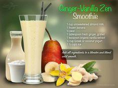 Ginger - vanilla Zen Smoothie