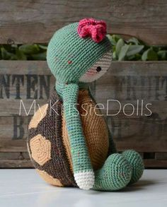 Cute Krissie the Turtle by My Krissie Dolls available to buy at Ravelry