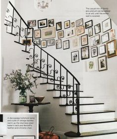 Such a good idea!!! would love to make a wall of pictures like this some day!!