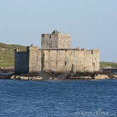 Kisimul Castle in Castlebay Island of Barra Scotland, Clan McNiel Castle