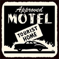 Approved Motel Tourist Vintage Metal Hospitality Retro Tin Sign