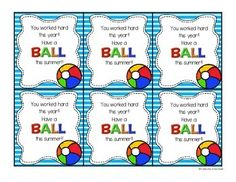 """Have a Ball"" End of Year Gift Tag"
