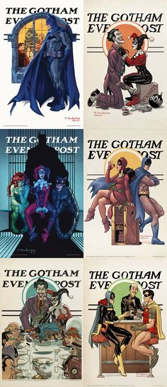The Gotham Evening Post. Batman/Rockwell...We have one of these in our hallway signed by the artist!