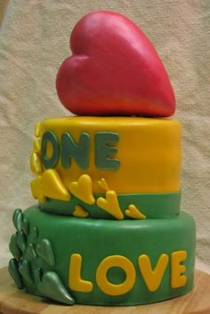 One Love Cake.  Designed by Me.  100% Edible