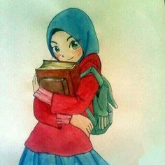 Your scarf is an essential element from the attire … Cartoon Sketches, Cartoon Pics, People Illustration, Illustrations, Muslim Pictures, Drawing Block, Polo Lacoste, Hijab Drawing, Islamic Cartoon