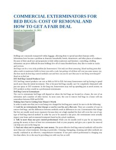 Commercial exterminators for bed bugs