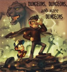Dungeons, Dungeons,and more Dungeons Reverse Gravity Falls, Gravity Falls Art, Reverse Falls, Fall Cleaning, Dipper Pines, Phineas And Ferb, Disney Xd, Title Card, Fall Pictures