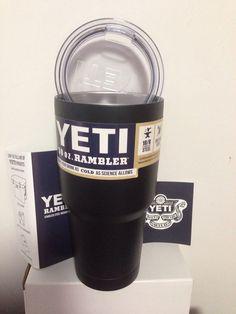New Matte Black Yeti Cooler Rambler Tumbler 30 oz Stainless Steel Frosting   eBay