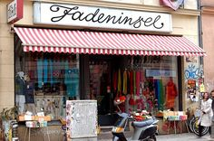 Yarn Shop in Berlin Berlin Shopping, Berlin Berlin, Yarn Store, Store Fronts, Yarns, Armchair, Handle, Treats, Display