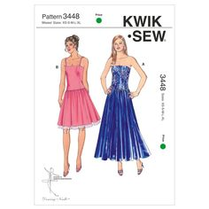 Free UK P/&P Butterick See /& Sew Ladies Easy Sewing Pattern 6308 Sur...