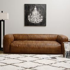 Diva Leather Outback Bridle Sofa - Overstock™ Shopping - Great Deals on Sofas & Loveseats Foam w feather topper