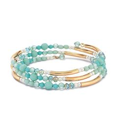 Avon Golden Mustang Wrap Bracelet Soothing, sophisticated and strong, turquoise-colored pieces are always a stunner! Add tranquil versatility to your outfit. AvonRep shirlean walker
