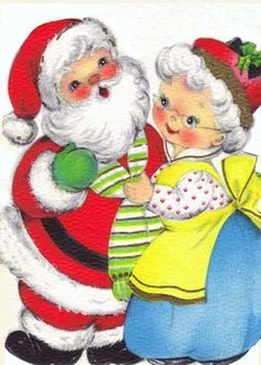 Vintage Christmas card - reminds me of us! Christmas Graphics, Christmas Clipart, Christmas Greeting Cards, Christmas Printables, Christmas Greetings, Vintage Christmas Images, Retro Christmas, Vintage Holiday, Christmas Pictures