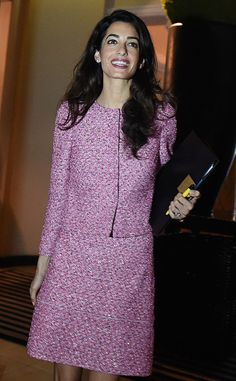 Amal Clooney from The Big Picture: Today's Hot Pics  George's better half greets the press in Sri Lanka.