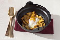 Amanita Caesarea with low temperature egg / Amanita Caesarea con huevo a baja temperatura #setas #mushrooms
