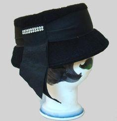 The Vintage Village - View Classified - Black Wool Felt Vintage Hat