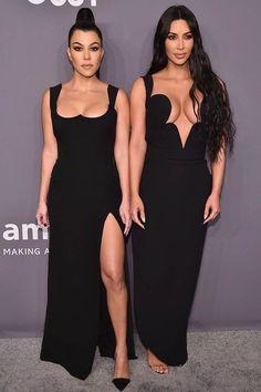 How Kourtney Kardashian has 'really been there' for Kim during Kanye 'divorce' Kourtney Kardashian, Kim And Kourtney, Kardashian Family, Kardashian Photos, Red Leather Dress, Leather Dresses, Bridesmaid Dresses, Prom Dresses, Formal Dresses
