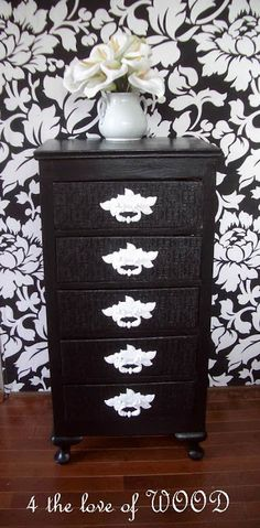 4 the love of wood: BLACK AND WHITE AND RIDICULOUSLY GORGEOUS - 5 drawer cabinet