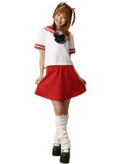 Red and White School Lolita Dress