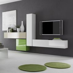 Modern Wall units and Entertainment centers for your modern living room from top Italian and European designers at closeout price. Tv Wall Design, Tv Unit Design, Tv Design, Design Ideas, Modern Wall Units, Modern Entertainment Center, Entertainment Units, Cube Unit, Buy Furniture Online