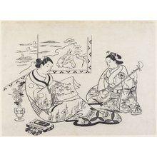 奥村政信: (Mitate of Matsukaze and Murasame) - ミネアポリス美術館