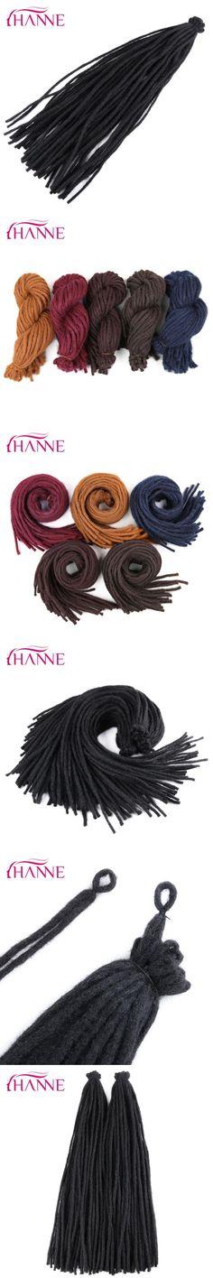 """HANNE 22"""" Crochet Braids Burgundy blue brown Blue 55g/pack Dreadlocks Synthetic Hair Extension For Black Women Or Men 2packs/lot"""