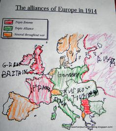 World war i map activity main causes ww1 map activities how world war 1 started some great maps and notebooking pages spotlighted here gumiabroncs Choice Image