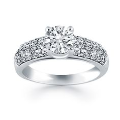 Shop Cathedral Diamond Engagement Rings at JJs Jewelry Box Black
