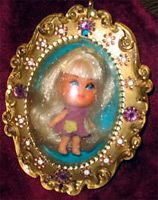 The first Lucky Locket Kiddle I got...I loved her SO much!  I so love kiddles and still have some.