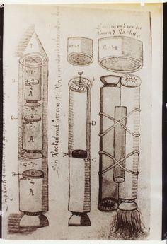 En 1961 Doru Todericiu, un profesor de Ciencia y Tecnología de la Universidad de Bucarest, descubrió un antiguo manuscrito de 450 páginas en los archivos de la ciudad de Sibiu, en Rumanía. Para su sorpresa estaba lleno de dibujos y datos técnicos sobre artillería, balística e incluía descripcion