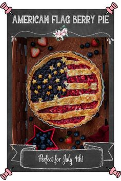 American Flag Berry Pie   www.oliviascuisine.com   Nothing says summer like a delicious berry pie! And if you're making dessert for 4th of July (or Memorial Day), why not do an American Flag lattice pie to celebrate? I can't think of anything more patriotic! This easy American Berry Pie recipe is delicious and instagrammable! #berrypie #americanflag Pie Crust Recipes, Tart Recipes, Star Cookie Cutter, Berry Pie, Star Cookies, Sweet Tarts, Pie Dessert, Flag Design, Pie Dish