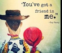 You've got a friend in me.. #toystory #woody #jessie