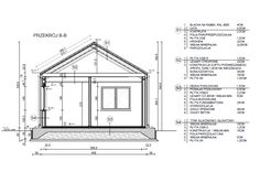 Dom jednorodzinny 76,70m2 Dom, Beams, Floor Plans, Construction, Building, House, Home, Buildings, Haus