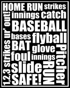 Crafter's Anonymous Club: Baseball Printable  Pinning this for Sky :) thought you might like it