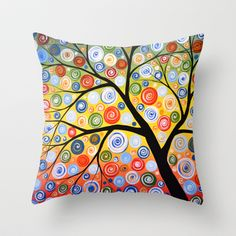 Sky of Stars Throw Pillow by Amy Giacomelli - $20.00