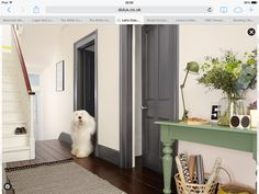Love the grey doors and skirting (dulux Urban Obsession)