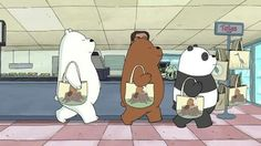 We Bare Bears Wallpapers, Panda Wallpapers, Cute Wallpapers, Pardo Panda Y Polar, Kinkade Paintings, 3 Bears, Bear Pictures, Bear Wallpaper, Cute Memes