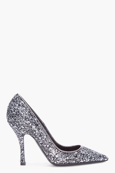 DSQUARED2   Silver Glitter Heels