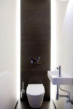 How to Create Bathroom that Fit Best Toilet Closet - Home of Pondo - Home Design Bathroom Design Small, Bathroom Interior Design, Modern Bathroom, Bad Inspiration, Bathroom Inspiration, Toilet Closet, Bathroom Closet, Master Bathroom, Small Toilet Room