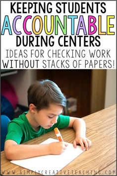 Hold students accountable for their work during math centers or literacy centers with these paperless classroom ideas. Integrate educational technology like the iPad to record student learning.